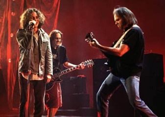 Neil Young Photo (circa 1995, with Pearl Jam)